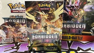 3x Forbidden Light Build and Battle Pokemon Prerelease Kit - One of Everything