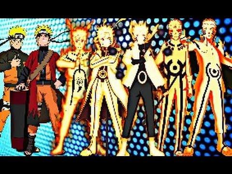 Naruto Uzumaki All Evolutions OLD