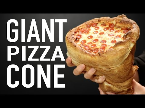 GIANT PIZZA CONE VS GIANT PIZZA CONE