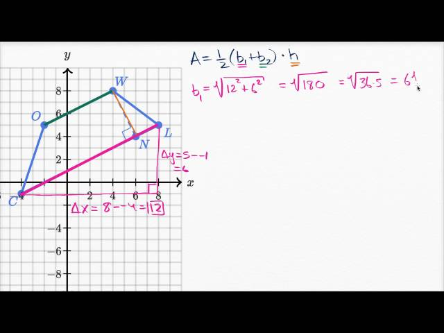 Area of trapezoid on the coordinate plane   High School Math   Khan Academy