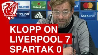 Liverpool 7-0 Spartak Moscow - Jurgen Klopp Post Match Press Conference