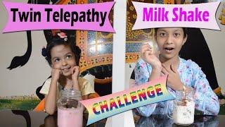 Twin Telepathy Milkshake Challenge | Cute Sisters
