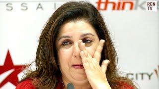 Farah Khan Cries at Shahrukh Khan Press Conference