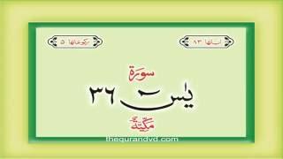 36. Surah Ya Sin  with audio Urdu Hindi translation Qari Syed Sadaqat Ali