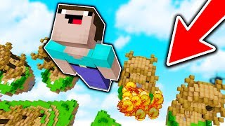 HUGE TNT PLAYER CANNON TROLL! (Minecraft Skywars Trolling)