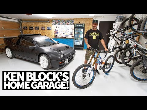 Ken Block s Ultimate Home Garage Downhill Mountain Bikes Ford RS200 and More