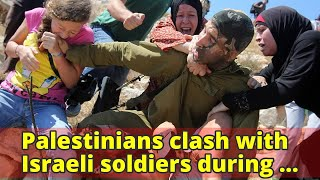 Palestinians clash with Israeli soldiers during protest for Ahed Tamimi