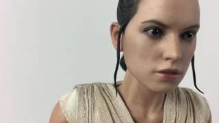 """Hot Toys Rey and BB-8 MMS 337 Unboxed """"Star Wars"""" """"The Force Awakens"""""""