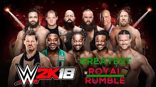 WWE2K18 - Royal Rumble Match - Arabia Saudita - SIMULAÇÃO