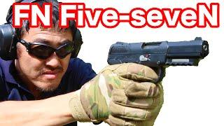 【実弾射撃】マック堺 が グアム ワールドガン で FN ファイブセブン (FN57) 撃ってみた!#350