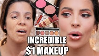 FULL FACE $1 MAKEUP   HIT OR MISS???