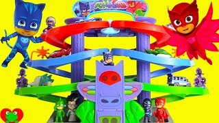 PJ Masks Nighttime Adventures Spiral Playset Race for Surprises