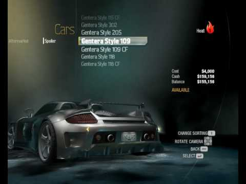 Need For Speed Undercover tuning test drive a porsche