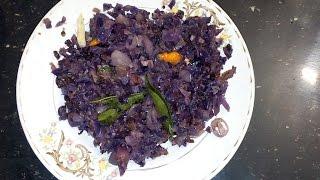 Purple Cabbage Thoran/Stir Fry