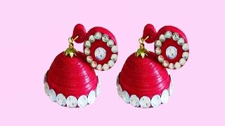 quilling paper jewelry | new design -quilling paper Earrings Making Tutorial