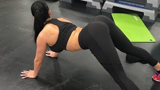 Aletta Ocean ass in Gym Hot Fitness Girl Big Booty Squat Workout