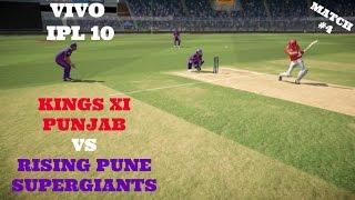 VIVO IPL 10 : KXIP VS RPS : MATCH 4