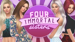 Let's Play The Sims 4: Four Immortal Sisters | Part 2 - Flippity Flop