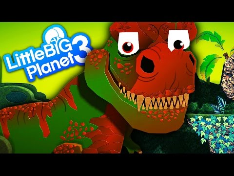 LittleBigPlanet 3 - The Lost World With Jurassic World Dinosaurs Mini Indominus Rex & Skeleton T Rex