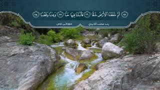 سورة عبس بصوت القارئ رعد محمد الکردي HD 1080