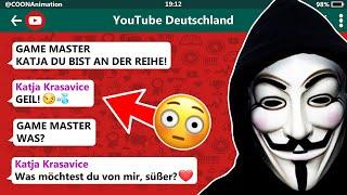 Katja Krasavice flirtet mit dem GAME MASTER! 😳💦  | YouTuber in einer WhatsApp Gruppe