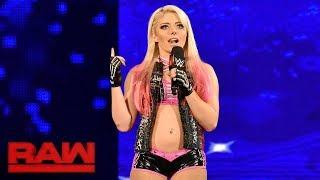 Alexa Bliss crashes Sasha Banks