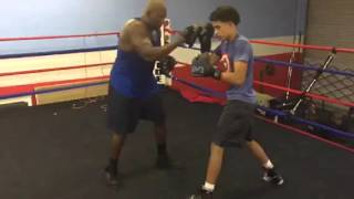 Boxing pad work with padman McGriff