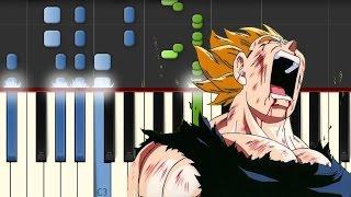 Dragon Ball Z / Cancion Triste / Piano Tutorial / Synthesia / Notas Musicales