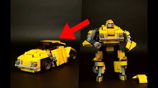LEGO Transformers - Bumblebee (2018) movie - Custom build + instructions