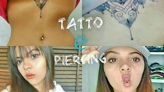 Fazendo tatuagem e colocando piercing - vlog