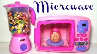 Microwave and Blender Just Like Home Kitchen Toy Appliances Sweets and Surprise Eggs for Kids