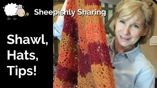 Crochet Shawl | New Tutorials | YouTube Tips | Sheepishly Sharing #169
