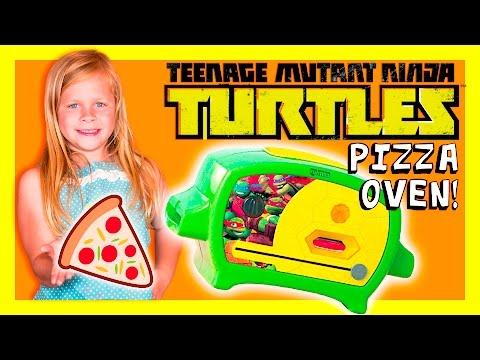 TEENAGE MUTANT NINJA TURTLE Pizza Oven Funny Huge TMNT Video Toys Review