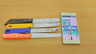 Sony Xperia X Knife Scratch Test! (4K)