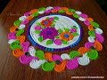 Amazing rangoli using spoon and fork | Innovative and easy rangoli designs by Poonam Borkar