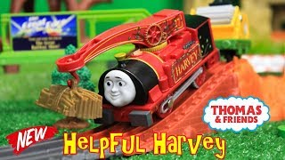 THOMAS AND FRIENDS TRACKMASTER HELPFUL HARVEY Unboxing|Thomas & Friends Toy Trains Kids Video