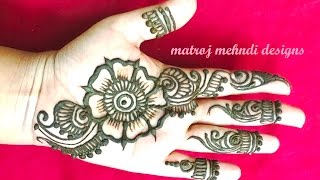 easy simple mehndi henna designs for hands for begineers