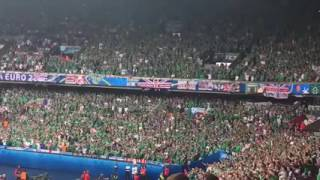 EM 2016  Northern Ireland fans singing 'Will Grigg's on fire' during the game