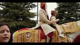 Grand Hindu Wedding: Swati + Abhi // Baraat entry on a horse | Tenu Leke