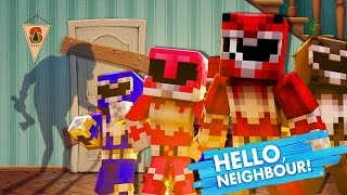 Minecraft POWER RANGERS SNEAK INTO THE NEIGHBOURS HOUSE!