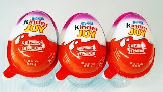 3 Kinder Joy Surprise Eggs Unboxing