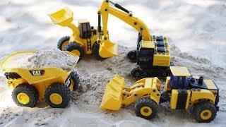 รีวิวของเล่นรถแม็คโคร รถตักดิน รถดั้ม รถของเล่นสำหรับเด็ก Excavator and dump truck