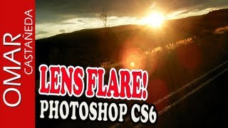 EFECTO LENS FLARE - PHOTOSHOP CS6