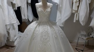 فساتين اعراس وخطبة فساتين زفاف و سهرة للتواصل على رقم ٠٠٩٠٥٣٤٢٤٧٠٨١١