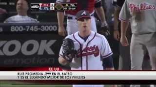 Panameño Carlos Ruiz en su mejor racha en las Grandes Ligas