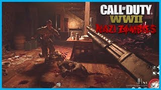"Call of Duty: World War II Zombies ""Groesten Haus"" Gameplay! (WW2 Zombies Survival Map)"