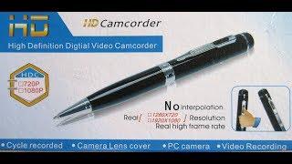 Hidden Spy Pen HD 1080P Camera DV DVR Video Security Camcorders TF Slot Spionage Kamera