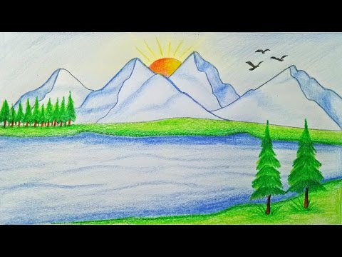 Xxx Mp4 How To Draw Scenery Of Mountain Step By Step Very Easy 3gp Sex