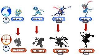 Greninja Evolution Type Swap - Fighting Type.