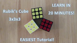 How To Solve The Rubik's Cube 3x3: LEARN In Less Than 20 MINUTES!